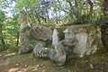 Bomarzo fury lazio italy the park of monsters Stock Photo