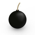Bomb isolated black on white background three dimentional Royalty Free Stock Images