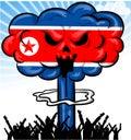 Bomb on north korea flag