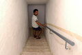 Bomb shelters bunkers naharia isr july israeli man enters shelter during lebanon war on july the state of israel requires all Royalty Free Stock Images