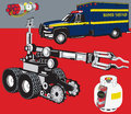 Bomb squad related clip art Stock Photos
