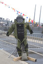 Bomb squad suit on display during fleet week new york may may in new york Royalty Free Stock Photography