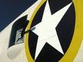 Bomber aircraft side gunner Royalty Free Stock Photo