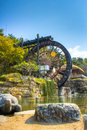 Bomun water wheel in gyeongju south korea Stock Images