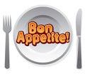 Bon appetit icon illustration of the Royalty Free Stock Image