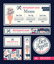 Bon appetit Restaurant Set Menu Graphic Design Template Royalty Free Stock Photo