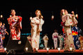 Bon odori festival japanese dance performance at the Royalty Free Stock Photography
