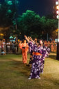 Bon odori festival japanese dance performance at the Stock Photos