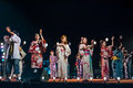 Bon odori festival japanese dance performance at the Stock Photo