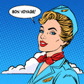 Bon voyage stewardess tourism travel flight