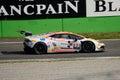 Bonaldi motorsport lamborghini huracan at monza lp super trofeo of the team driven by florian spengler the ascari chicane of Royalty Free Stock Photo
