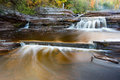 Bonanaza Falls - Porcupine Mountains, Michigan Royalty Free Stock Photo