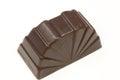 Bonbon brun sur un fond blanc Images stock
