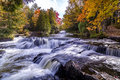 Bond falls in autumn Royalty Free Stock Photo