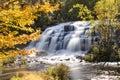 Bond Falls in Autumn - Upper Peninsula of Michigan Royalty Free Stock Photo