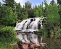 Bond Falls, Michigan Waterfall in Spring, USA Royalty Free Stock Image