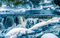 Bond falls (middle section) on the Ontonogan river Royalty Free Stock Photo
