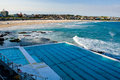 Bondi beach icebergs view over towards on a summer s day in sydney australia Stock Images