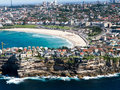 Bondi beach taken from a sea plane Stock Photos