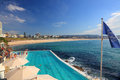 Bondi icebergs and bondi beach australia ausgtralia november view overlooking the popular swimming pool famous people have Royalty Free Stock Photo