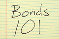 Bonds 101 On A Yellow Legal Pad Royalty Free Stock Photo