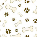 Bone and paw texture Royalty Free Stock Image
