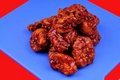 Boneless honey bbq chicken wings Stock Images