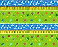Bones and paws pattern cute of dog eps Stock Image