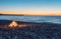 Bonfire on the Beach Royalty Free Stock Photo