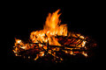 Bonfire on black background,Wildfire,Forest fire,Fire flames