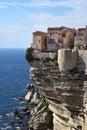 Bonifacio city france at the cliffs of corsica Stock Image