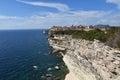 Bonifacio city france at the cliffs of corsica Royalty Free Stock Image