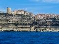 Bonifacio corsica view of from the sea Royalty Free Stock Image