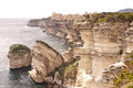Bonifacio corsica the white limestone cliffs of Royalty Free Stock Photos