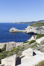 Bonifacio harbor, Corsica, France. Royalty Free Stock Photography