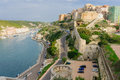 Bonifacio marina view of the and cliffs in corsica france Royalty Free Stock Photography