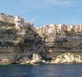 Bonifacio over the white cliffs Royalty Free Stock Image