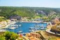 Bonifacio port in corsica france Royalty Free Stock Image