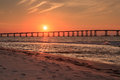Bonner bridge oregon inlet north carolina sunset landscape of the herbert which carries nc highway traffic over the in this road Royalty Free Stock Photography
