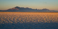 Bonneville salt flats tooele county utah pleistocene lake sunset the is a densely packed pan in in northwestern the area is a Stock Images