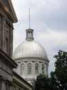 Bonsecours market dome old montreal canada close up on by cloudy day Royalty Free Stock Photos