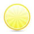 Bonus area orange glossy icon on white background Royalty Free Stock Photos