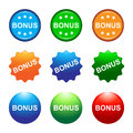 Bonus buttons illustration of colorful Royalty Free Stock Photography