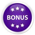 Bonus icon premium purple round button