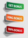 Bonus stickers Royalty Free Stock Images