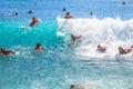 Boogie board Waikiki Royalty Free Stock Photo