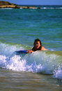 Boogie Boarding Royalty Free Stock Photos