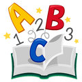 Book of ABC 123 Royalty Free Stock Photo