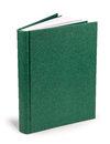 Book blank green hardcover - clipping path Royalty Free Stock Photo