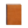 Book with brown leather hardcover isolated on white background Royalty Free Stock Photography